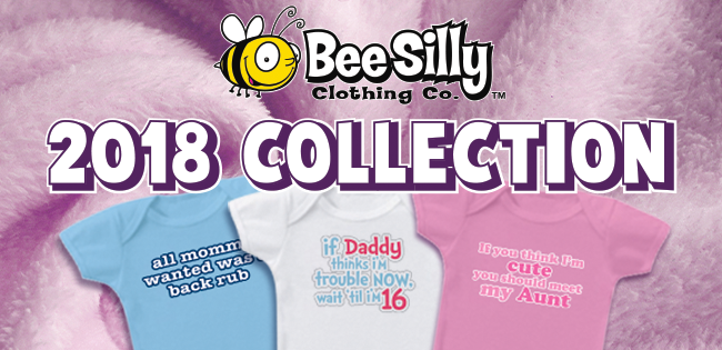 funny onsies and kids clothes - 2018 collection - Bee Silly Designs