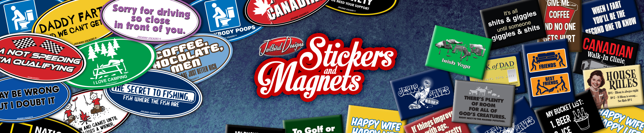 funny stickers and magnets