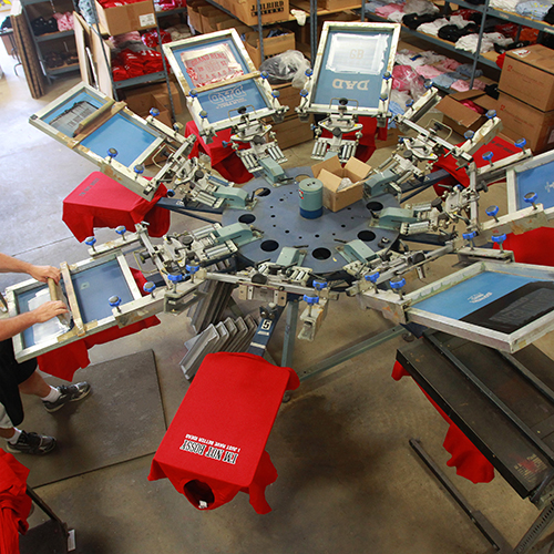 Jailbird Designs - State of the art screen printing - The Canadian Press/Dave Chidley